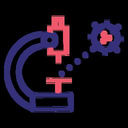 Icono de trazo de microscopio Covid 19