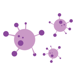 Covid 19 molecules icons