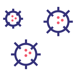 Covid 19 molecules stroke icon