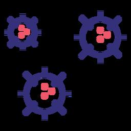 Icono de trazo de moléculas de Covid 19