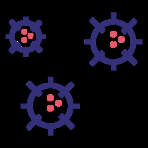 Covid 19 molecules stroke icon