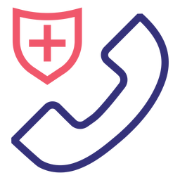 Covid 19 phone doctor stroke icon
