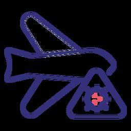 Covid 19 Flugzeug Strich Symbol