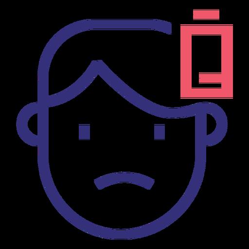 Covid 19 sick man stroke icon