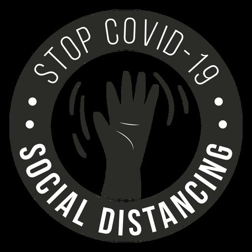 Covid 19 insignia de distanciamiento social Transparent PNG