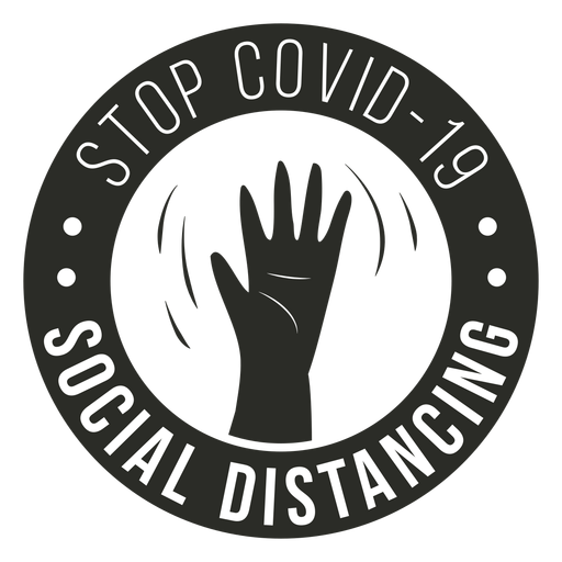 Covid 19 social distancing badge Transparent PNG