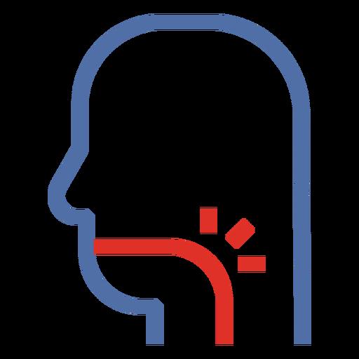 Covid 19 sore throat stroke icon