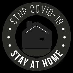 Covid 19 quedarse en casa insignia