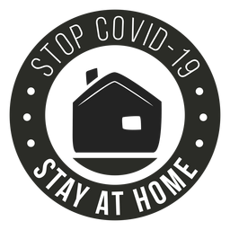 Covid 19 stay home badge