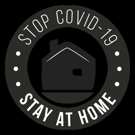Covid 19 quedarse en casa insignia Transparent PNG