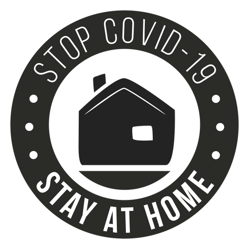 Covid 19 stay home badge Transparent PNG