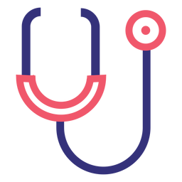 Covid 19 stethoscope stroke icon