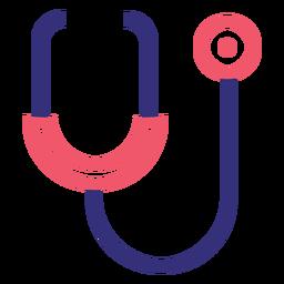 Icono de trazo de estetoscopio Covid 19