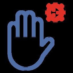 Covid 19 stop hand stroke icon
