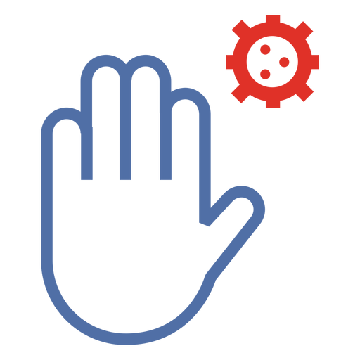 Covid 19 stop hand stroke icon Transparent PNG