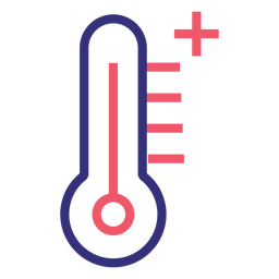Covid 19 thermometer stroke icon