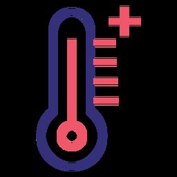 Icono de trazo de termómetro Covid 19