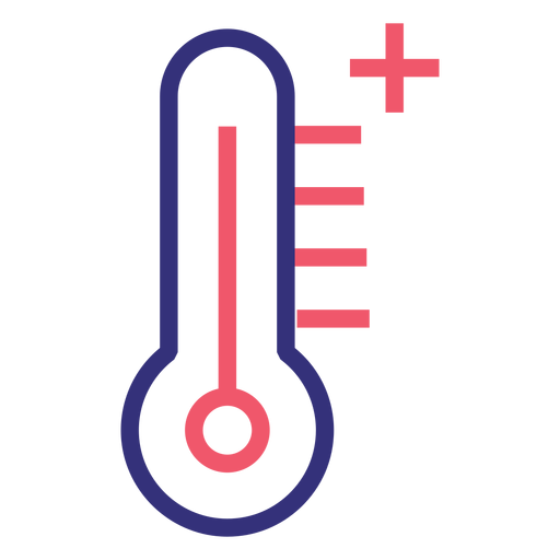 Covid 19 thermometer stroke icon Transparent PNG