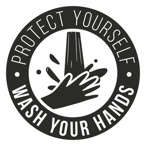 Covid 19 wash your hands badge Transparent PNG