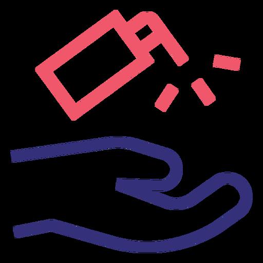 Covid 19 icono de trazo desinfectante para manos que se lava Transparent PNG