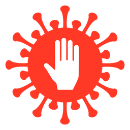Palma do emblema covarde
