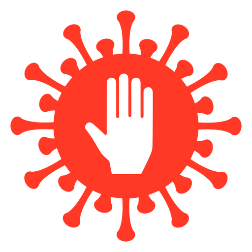 Covid badge palm Transparent PNG
