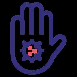 Stoppen Sie das Symbol für den 19-Hand-Strich