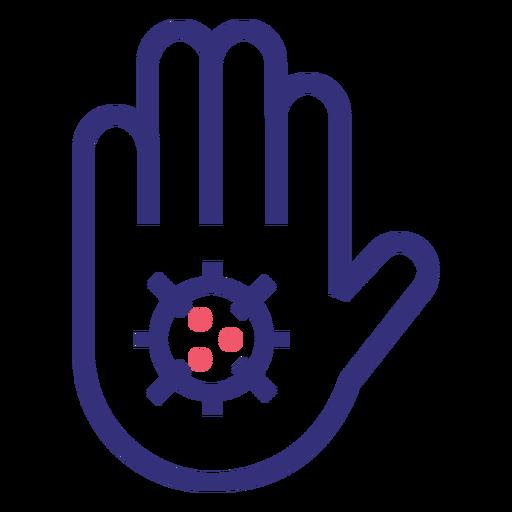 Stop covid 19 hand stroke icon