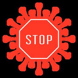 Stoppen Sie das Covid-Abzeichen