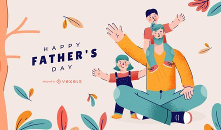 Happy father's day illustration design