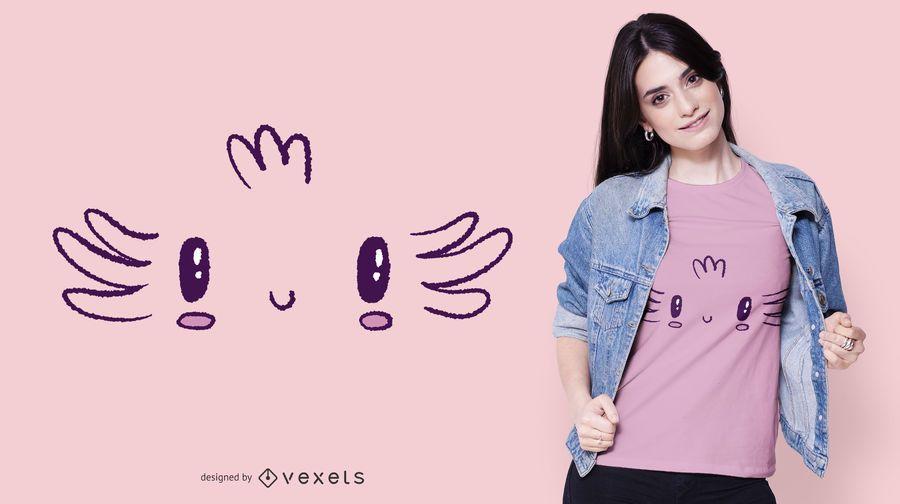 Design de t-shirt de rosto Axolotl