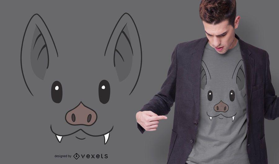 Bat Face T-shirt Design