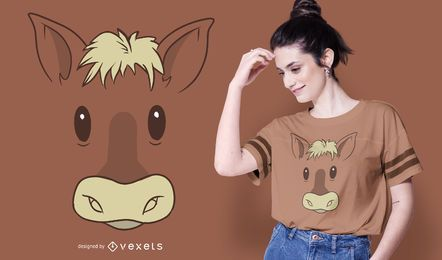 Horse Face T-shirt Design