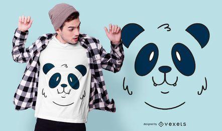 Design de camisetas de animais com cara de panda