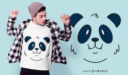 Design de t-shirt animal de cara de panda
