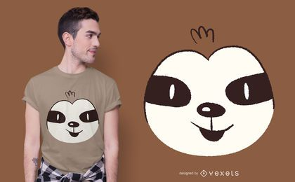 Diseño de camiseta Sloth Face