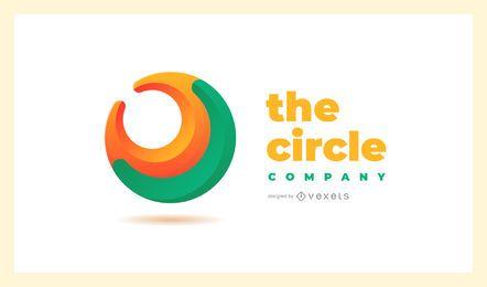 Modelo de logotipo abstrato do círculo