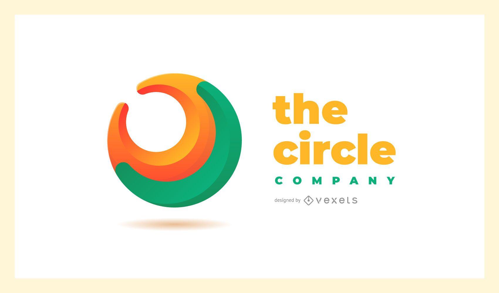 Modelo de logotipo abstrato de c?rculo