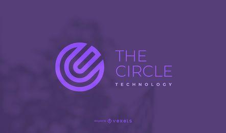 O modelo do logotipo do círculo