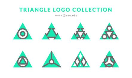 Colección de logotipos triangulares