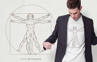 Vitruvian Man T-shirt Design