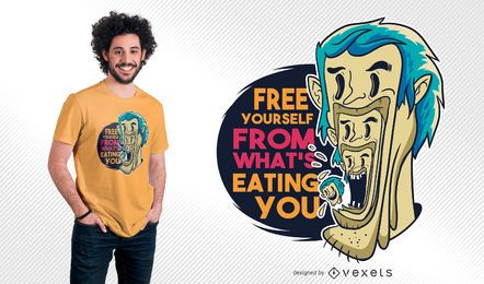 Man Eating Man Quote T-shirt Design