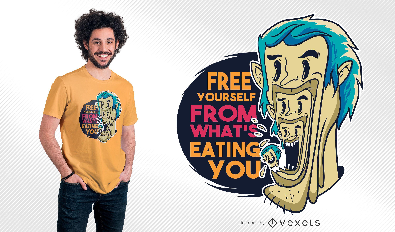 Man Eating Man Quote T-shirt Design
