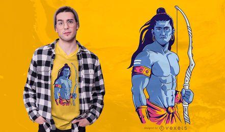 Design do t-shirt da ilustração do senhor Rama