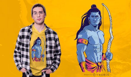 Diseño de camiseta Lord Rama Illustration