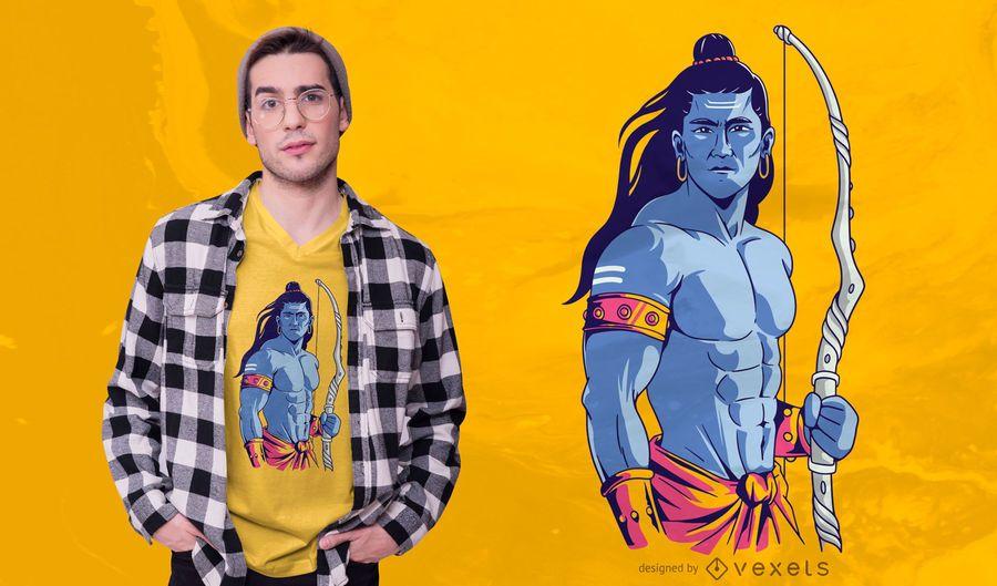 Diseño de camiseta Lord Rama Illustration
