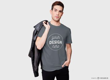 Design legal do t-shirt do homem
