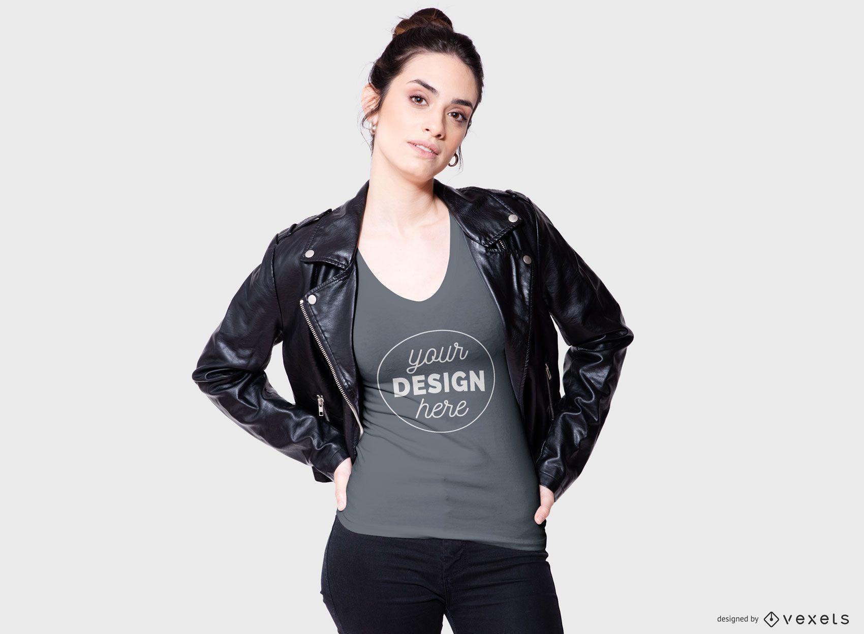 Maqueta de camiseta Cool Woman