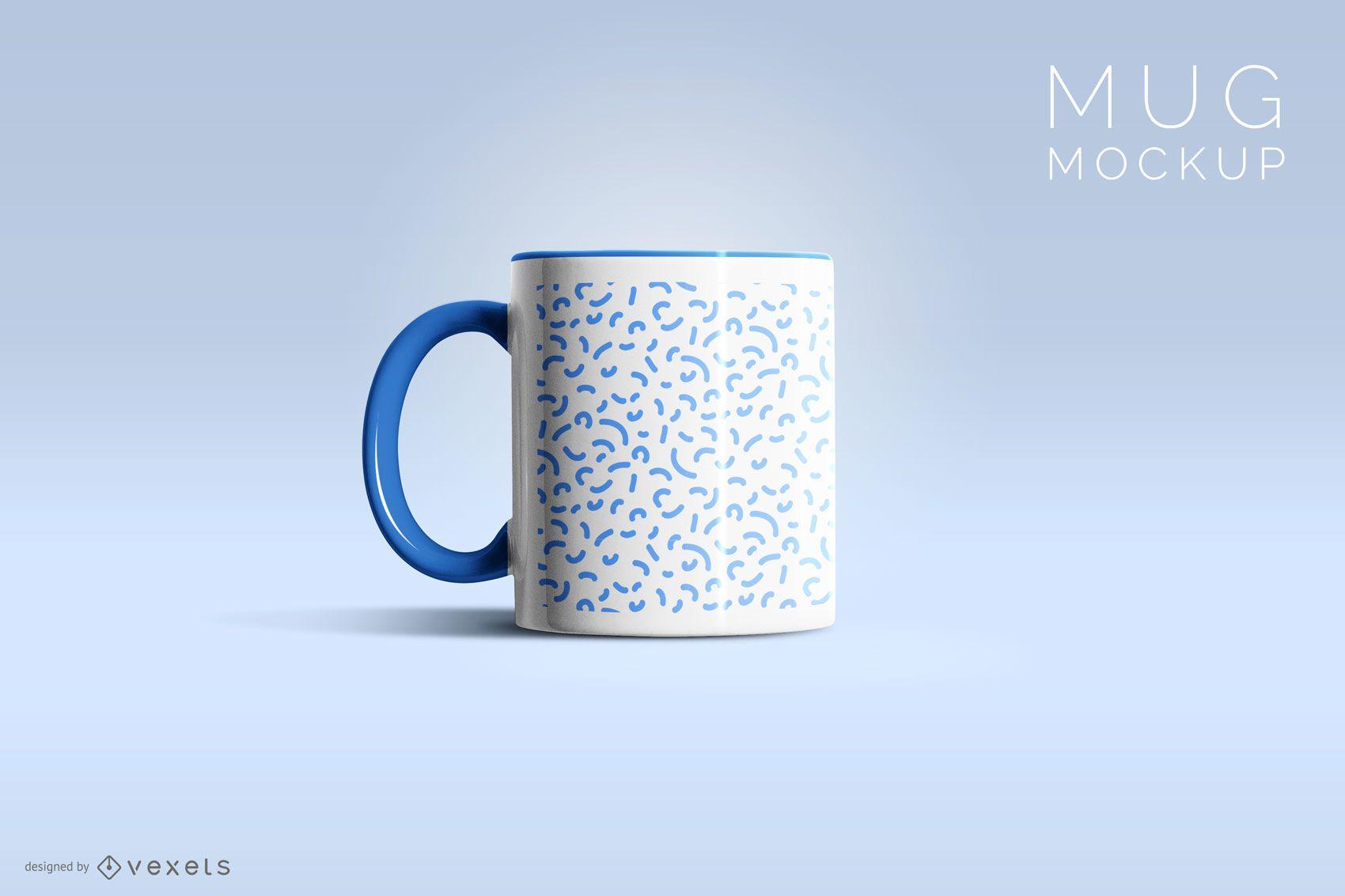 Design de maquete de caneca de café