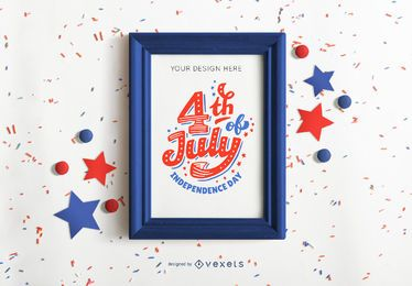 4th of july frame mockup